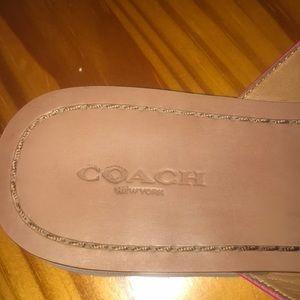Coach Shoes - Coach pink sandals